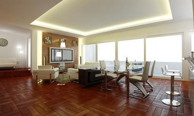 The interior design of living room idea