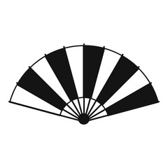Chinese fan icon, simple style