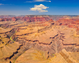 Grand canyon landscape view during sunny day, Arizona