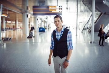 Handsome male model in his twenties.