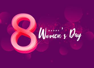 international happy woman's day creative design background