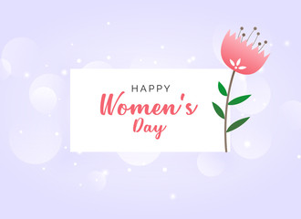 woman's day celebration wallpaper design background