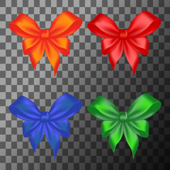 Colored bows set
