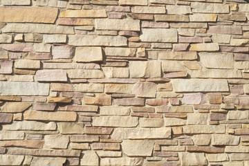 beige stone wall bricks surface texture pattern