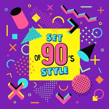 Set design of 90s style.