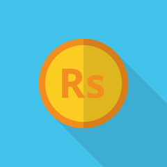 currency symbol on gold coin India rupee