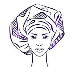 African girl face
