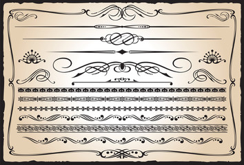 Western Design Elements Wall mural