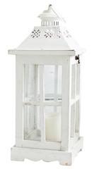 Vintage wooden lantern isolated on white background