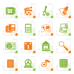 Stylized Mobile Phone and Computer icon - Vector Icon Set
