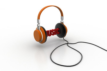 Word music with head phone