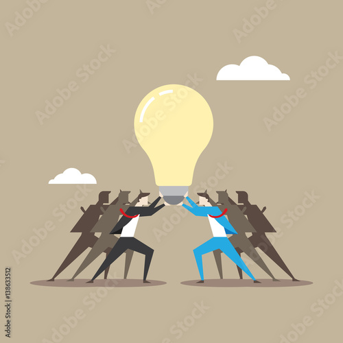 business concept illustration in teamwork theme stock image and
