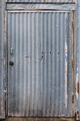 Corrugated Metal Door