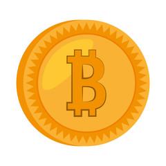 money bitcoin golden icon vector illustration eps 10