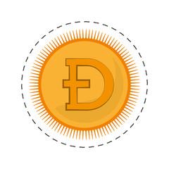 dogecoin money golden commerce vector illustration eps 10