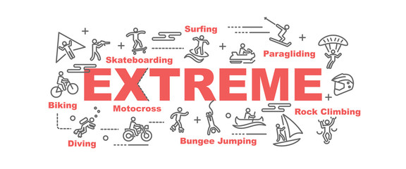 extreme vector banner