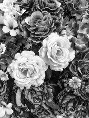 Artificial rose gray flower background for your design.