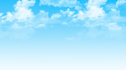 Blue sky with clouds background. Wall mural