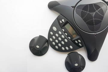 top view of IP conference phone and portable speaker phone