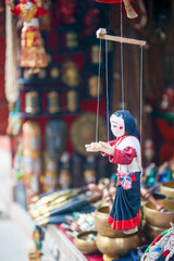 wood marionette doll for sell in Nepal