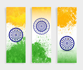 Happy independence day and Indian flag, vector banner