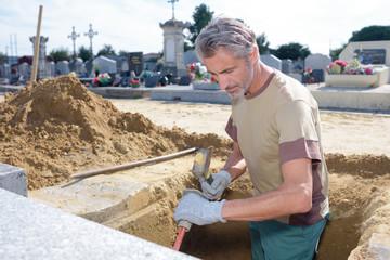 graveyard digger at work