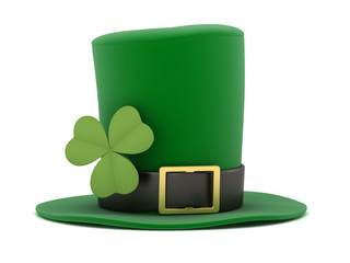 3d render of a leprechaun hat