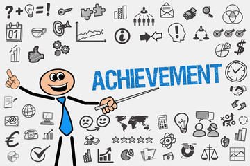 Achievement / Mann mit Symbole