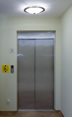 A lift for the disabled in public buildings.