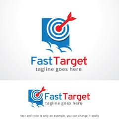 Fast Target Logo Template Design Vector