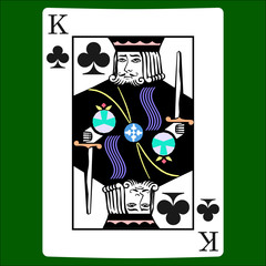 King clubs. Card suit icon vector, playing cards symbols vector