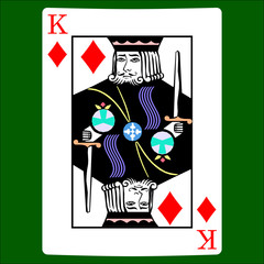 King diamonds. Card suit icon vector, playing cards symbols vector