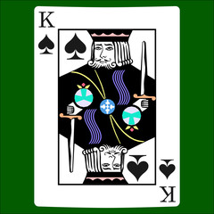 King spades. Card suit icon vector, playing cards symbols vector