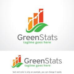 Green Stats Logo Template Design Vector
