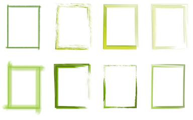 Rahmen Set grün hellgrün gelb