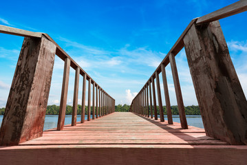 Wooden bridge at coast