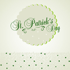 Typographic map dedicated to St. Patrick's Day with green elements and symbols of the holiday as postcard, background, business cards