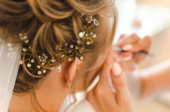 Morning Bride at the beauty salon