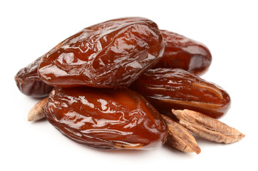 Dates on a white background