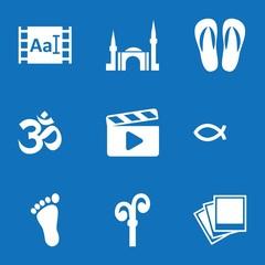 Set of 9 shape filled icons