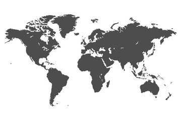 Wall Mural - simple vector map of the world