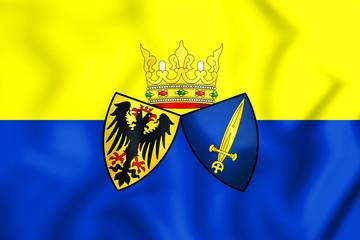 Flag of Essen, Germany. 3D Illustration.