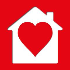 Maison - Cœur - Habitation - amour - Logement