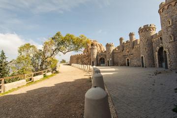 Fort in Cabo Tinoso Cartagena Guns near Mazarron Murcia Spain