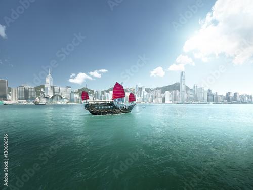 Fototapete Hong Kong harbour