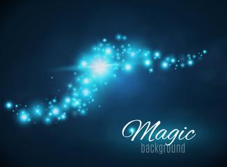 Magic Dust. Infinity. Abstract  Background.  Stars. Vector illustration