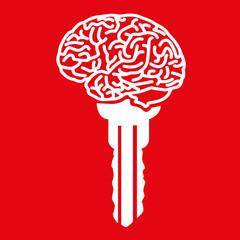 Clé - Cerveau - solution, idée, créativité, réussite