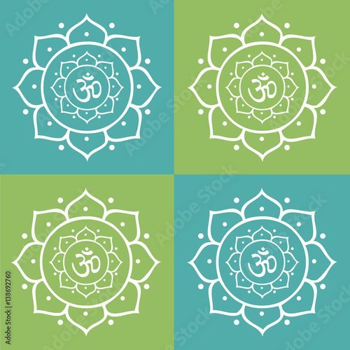 Vector om symbol and lotus flower mandala illustration stock image vector om symbol and lotus flower mandala illustration mightylinksfo