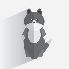 Logo wolf flat design