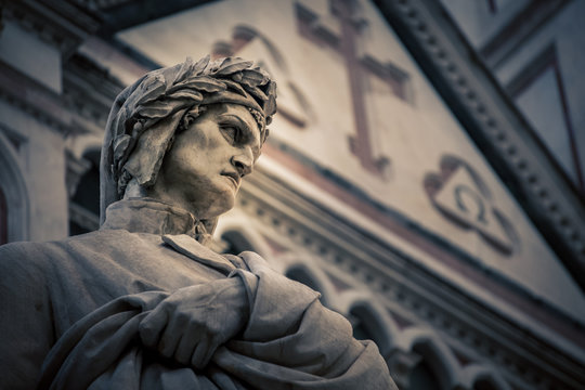 poet statue florence italy
